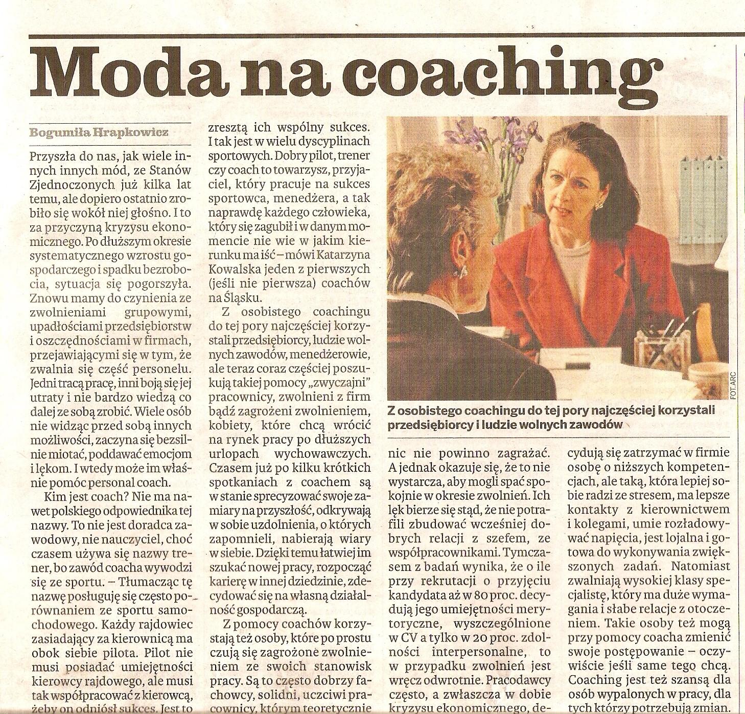 moda na coaching