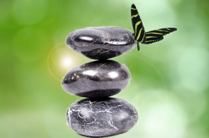 zen-stones-and-butterfly